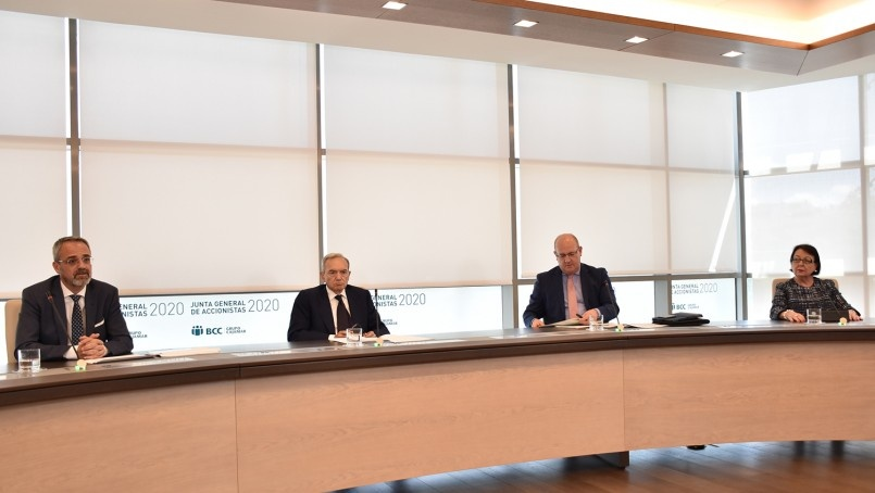 In the image the general shareholders meeting of BCC-Grupo Cajamar 2020